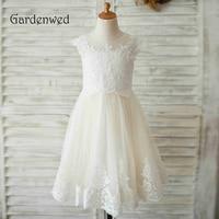 22f67d5dd6 ... koronki kwiat dziewczyna sukienki na ślub aplikacja cekiny urodziny  pierwsza komunia dla dziewczynek. Gardenwed 2019 White Lace Flower Girl  Dresses For ...