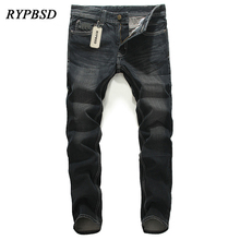 New Arrival 2017 Men Jeans High Quality Washed Straight Slim Fit Denim Casual Biker Jeans Pants Male Trousers Desinger 28-40