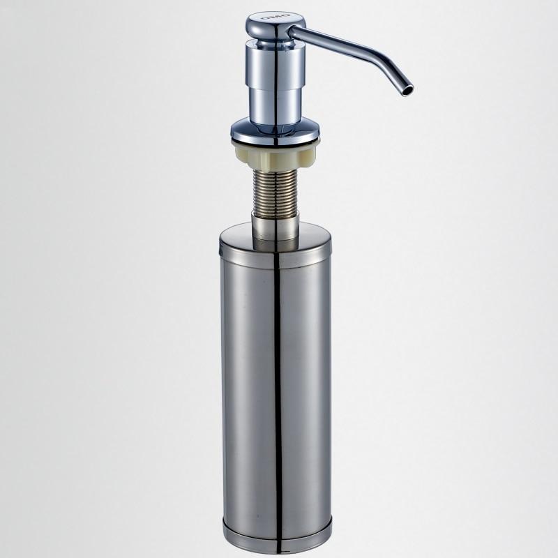 304 Stainless Steel Brass 300ml Kitchen Bathroom Sink Liquid Soap Dispenser In Liquid Soap