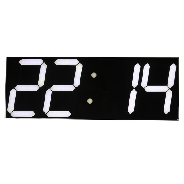 Free shipping Large Digital Wall Clock LED Display Remote Control