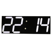 Free shipping Large Digital Wall Clock LED Display Remote Control Countdown Alarm Clock Stopwatch Modern Design Big