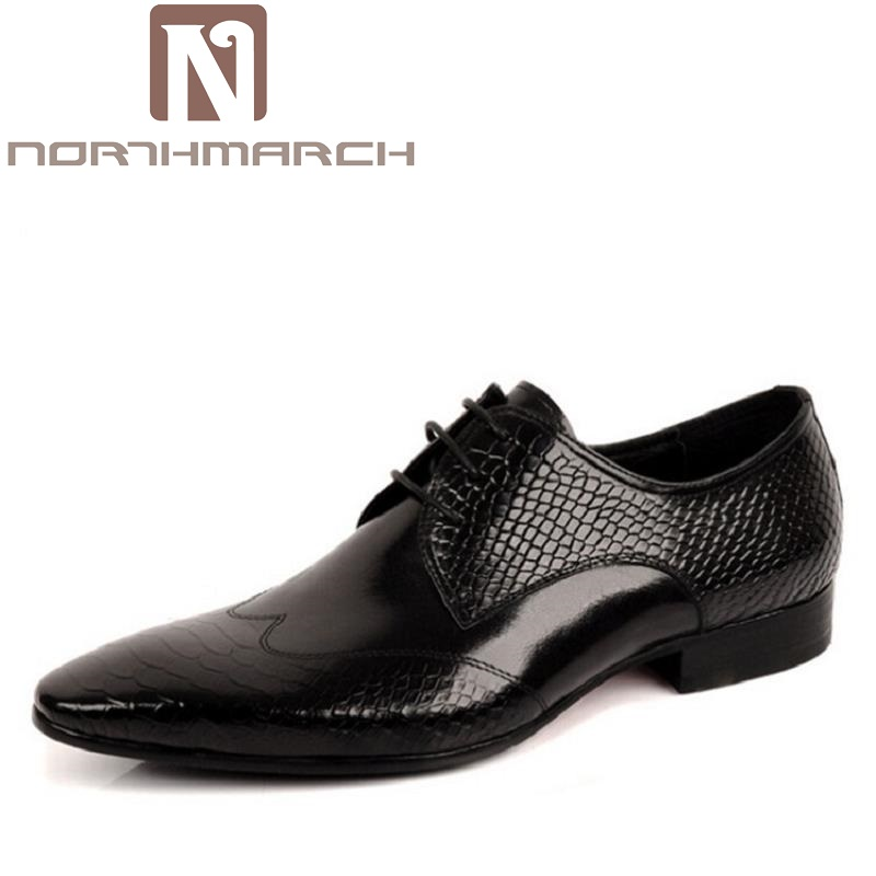 NORTHMARCH Fashion Leather Brand Men Dress Shoes Business Genuine Leather Office Oxford Men Shoes For Wedding Schoenen Mannen reetene fashion men dress shoes fashion business pu leather oxford shoes for men office men shoes wedding shoes men zapatos