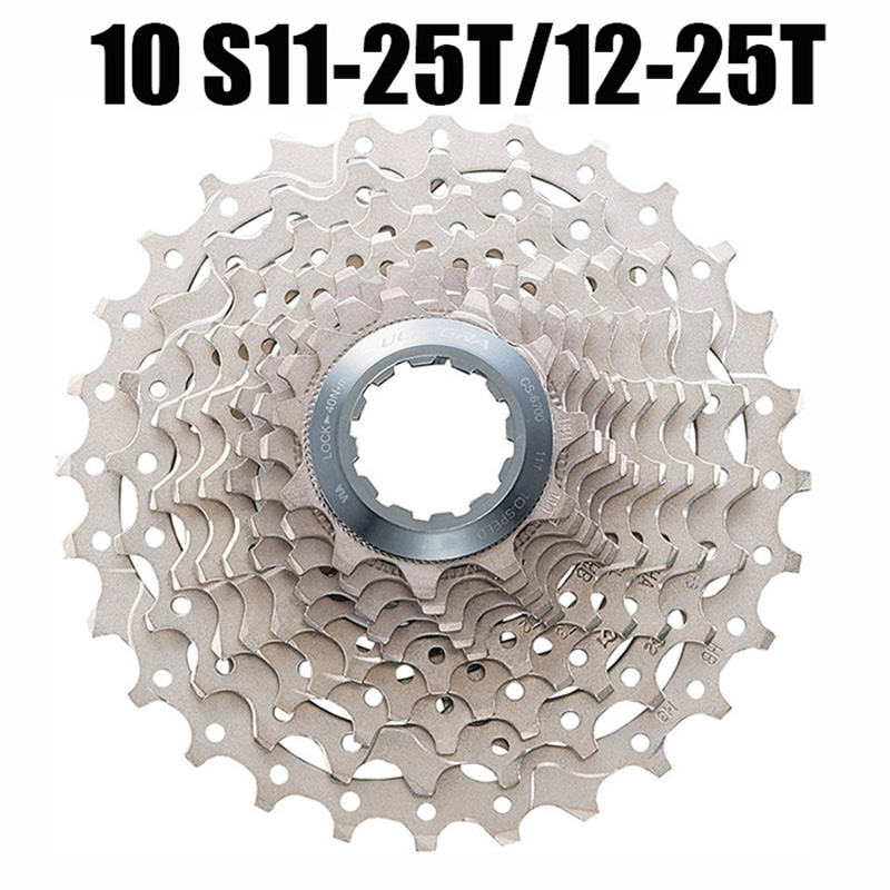 10 speed 11-23T/11-25T/12-25T Road bike bicycle cassette Free Wheel for shimano ULTEGRA CS-6700 for Sram PG1050 image