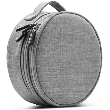Boona  Oxford Round Durable Digital Gadget Electronic Accessories Cable USB Drive Case Bag Insert Organizer Cosmetic Bag