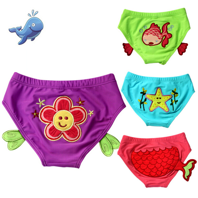 3D Sea World infantil Swimwear bebê maiô, Lavável Swim Diaper Baby Girl Swimwear para bebês 15-55lbs