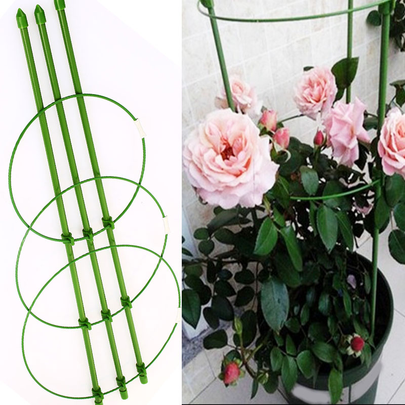 Tools 60cm Flower Plants Clematis Climbing Rack Support Shelf House Plant Growth Scaffold Ladder Building Garden Tool Ladders