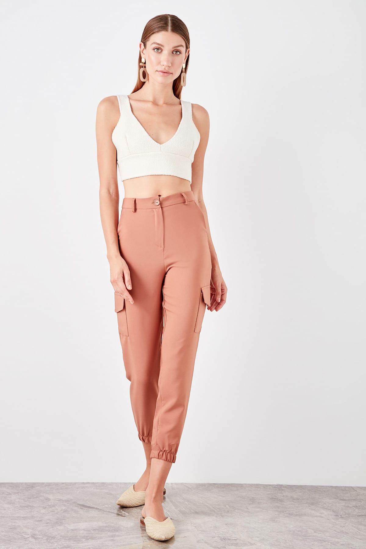 Trendyol Camel Side Pocket Detail Pants TWOSS19PL0138