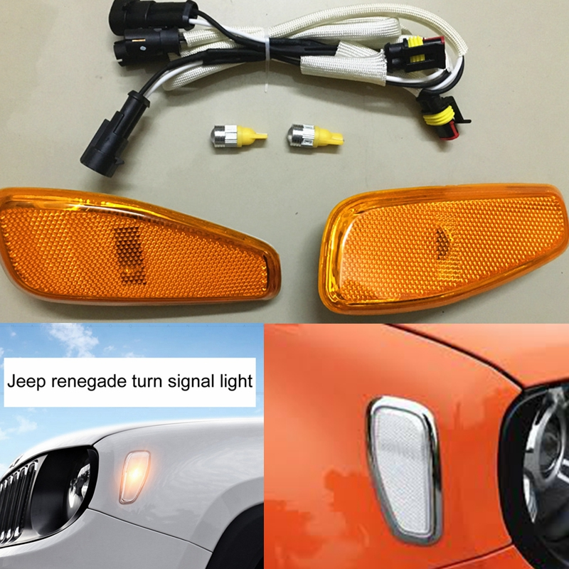 Led Lights Jeep Renegade: Car Accessories For Jeep Renegade Front Fog Lights Turn