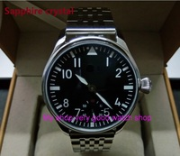 Sapphire crystal 44mm PARNIS Asian 17 jewels ST3621/6498 Mechanical Hand Wind movement black dial luminous men's watches sdgd100