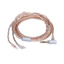 Câble Audio universel à 8 tresses, 0.78mm, 2 broches CIEM OCC équilibré, 2.5mm/3.5mm/4.4mm