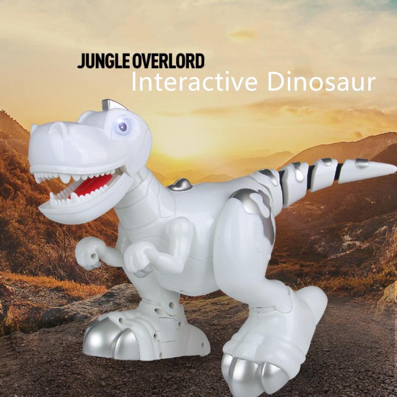 Nouveau Dinosaure Marche Électrique 908C multi-Fonction Musique Lumière En Cercles Smart Touch Induction Dinosaure Animal Robot Modèle Jouet