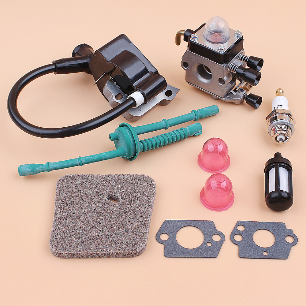 Tools : Carburetor Ignition Coil Air Filter Fuel Hose Kit For STIHL FS38 FS55 FS45 FS46 FC55 KM55 Trimmer Brushcutter Replacement Parts