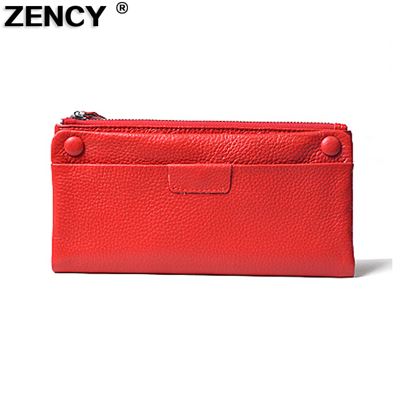 2018 Real Genuine Soft 100% First Layer Cow Leather Women Girl Lady Women Wallet Purse Credit Card Clutch Bag Purse Cash Holder high quality first layer soft genuine leather men s credit card holder clutch wallet phone purse vintage design long wallets