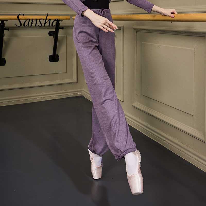 Sansha     Adult Warm Ballet Dance Pants Autumn Winter Lace Up  Dancewear   KH0101P