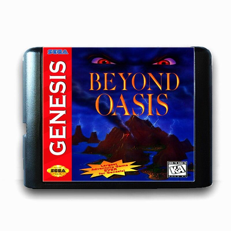 Au-delà Oasis 16 bits Sega MD Carte De Jeu pour Mega Drive pour Genesis
