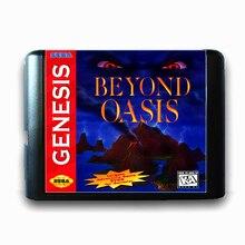 Além do Oásis de 16 bits da Sega MD Cartão de Jogo para o Mega Drive para Genesis