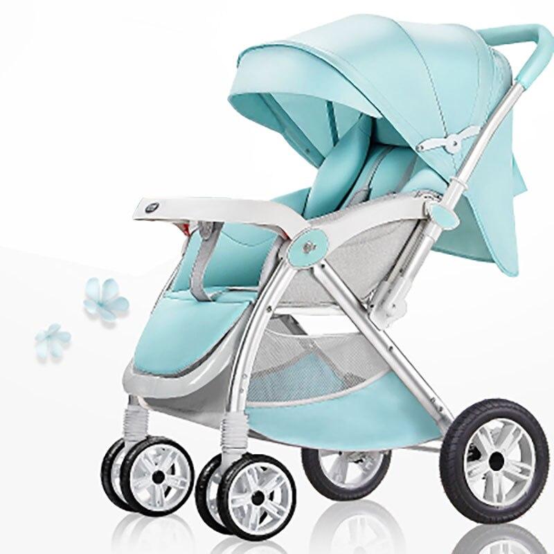 Детские тележка может сидеть и лежать складывать 0/Возраст 1–3 года старый высокое пейзаж Портативный каретки. ...