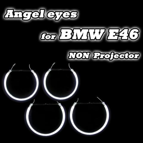 boa qualidade 2 131mm 2 146 milimetros para bmw e46 nao projetor farois de halo