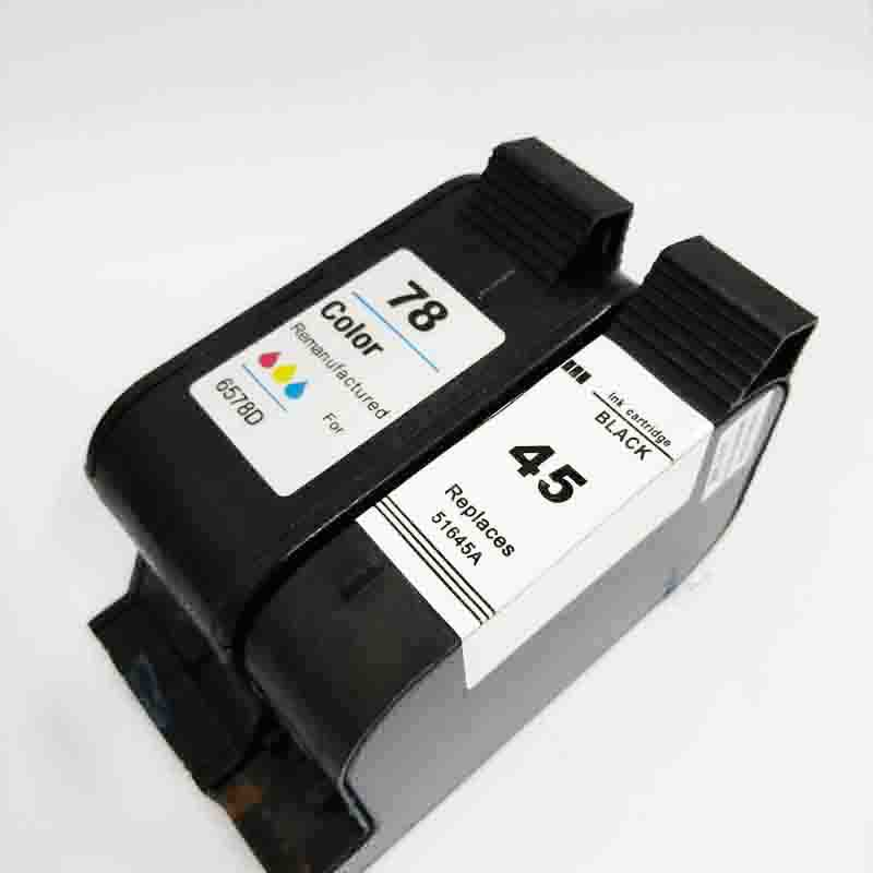 Vilaxh 45A 78A Compatible Ink Cartridge Replacement for HP 45 78 51645A C6578A For Deskjet 180 280 1220c 3810 3820 930c Printer|ink cartridge|compatible ink cartridge|replacement cartridge - title=