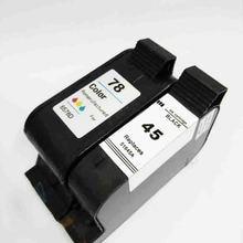 Vilaxh 45A 78A Compatible cartucho de tinta HP 45 78 51645A C6578A para Deskjet serie 180 280 1220c 3810 3820 930c impresora