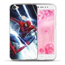 Luxury Marvel Avengers Heroes For Xiaomi Redmi 3S 4X Mi 6 A1 5X Note 3 4 4X 5A 5 Plus Pro Prime Case Cover Coque Etui Fundas