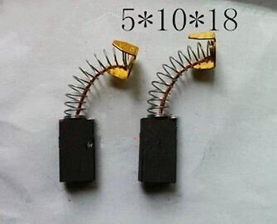 10 Pcs 5x10x18mm Spring Type Power Tool Carbon Brushes 1/5