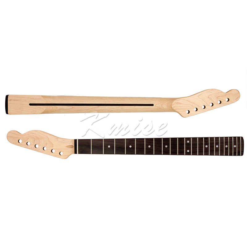 Electric Guitar Neck Maple 22 Fret for Electric Guitar Replacement Parts Rosewood Fingerboard White Dot Inlay
