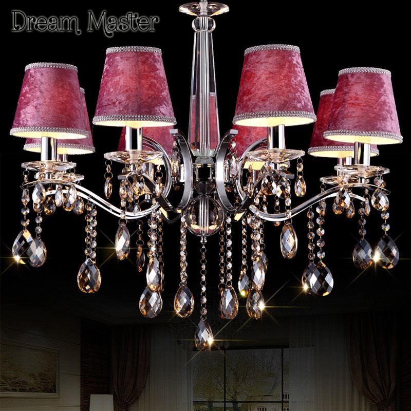 European luxury crystal chandelier living room restaurant warm and romantic bedroom purple girl room wedding room lamp luxurious crystal pendant lamp the european style living room lamps and lanterns creative bedroom crystal chandelier