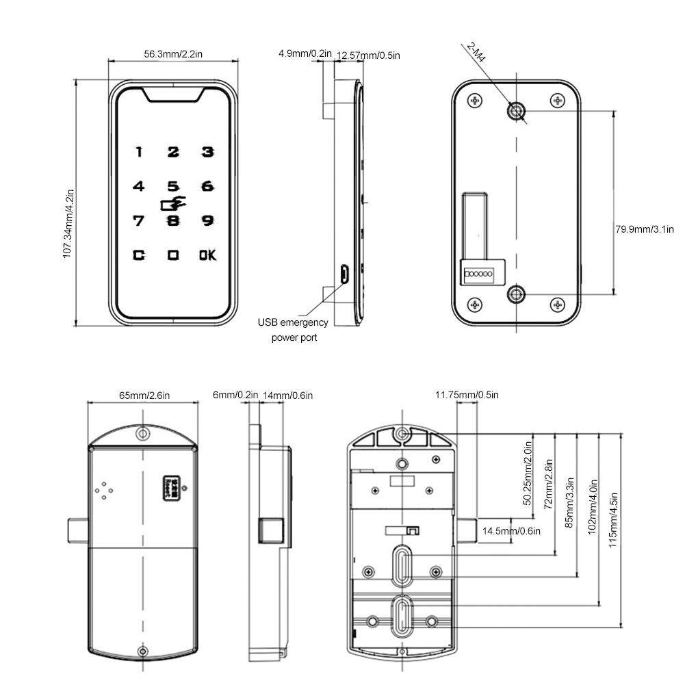 HTB1rLW ShnaK1RjSZFtq6zC2VXad SOONHUA High Quality Zinc Alloy Smart Digital RFID Password Lock Touch Keypad Electronic Wardrobe File Cabinet Lock