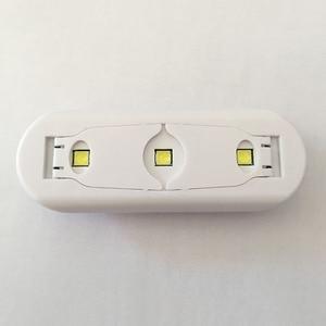 Image 5 - ミニネイル Uv LED ランプ 6 ワット UV ジェルポリッシュ硬化機 3 ビーズ 365nm 405 ネイルアートツール 60s 速乾性 UV ドライヤー LED ドライヤー折りたたみ