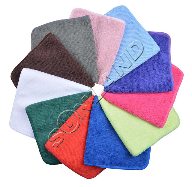 """24PC/lot 9""""x9"""" Microfiber Cleaning Cloth  Kithcen Dish Towel Glass Screen Lens Furniture Dust Wiping Rugs Manufacturer"""