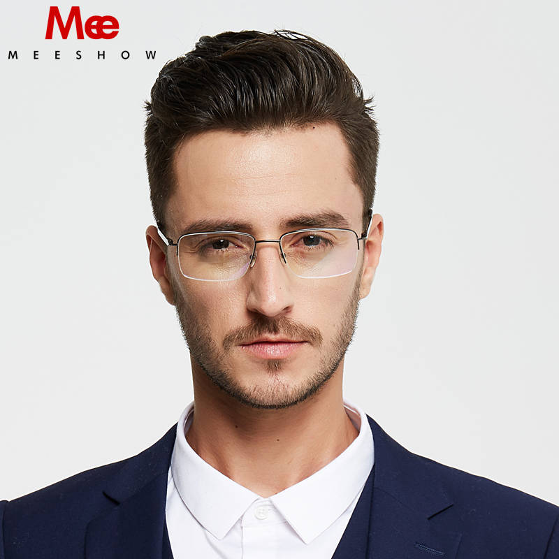Pure titanium glasses frame Men s prescription glasses Brand business optical frame High qulity titan Flex