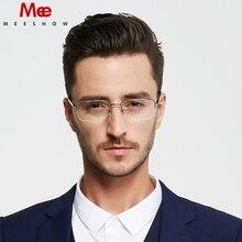 2c75784dbd 2019 MEESHOW titanium gafas mitad rim gafas hombres marco óptico de  negocios titan Flex gafas caso gafas de sol