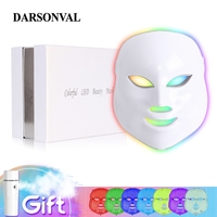 DARSONVAL 7 Colors Photon Led Facial Mask Light of Therapy Face Phototherapy Device Whitening Wrinkle Acne Skin Care