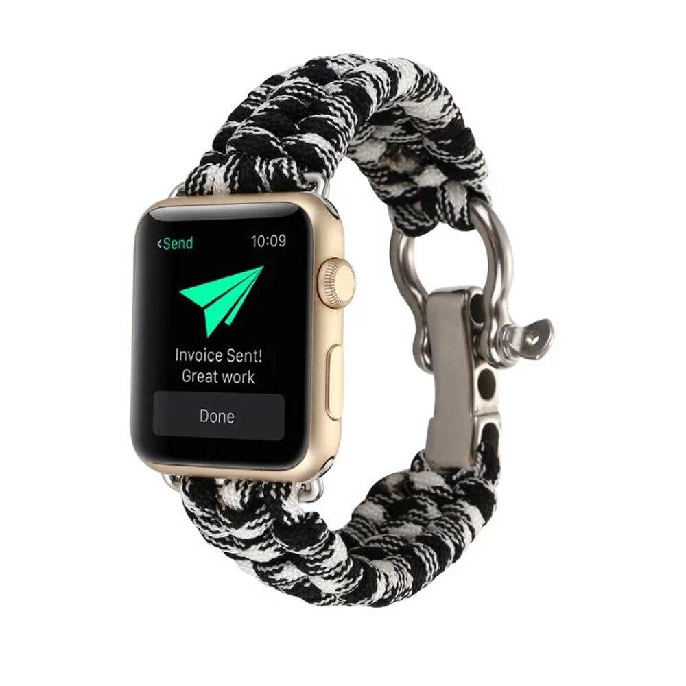 AIGRETTES parapluie corde montre bracelet bande pour apple watch 3/2/1 iwatch 42mm 38mm bracelet pour vieux clients