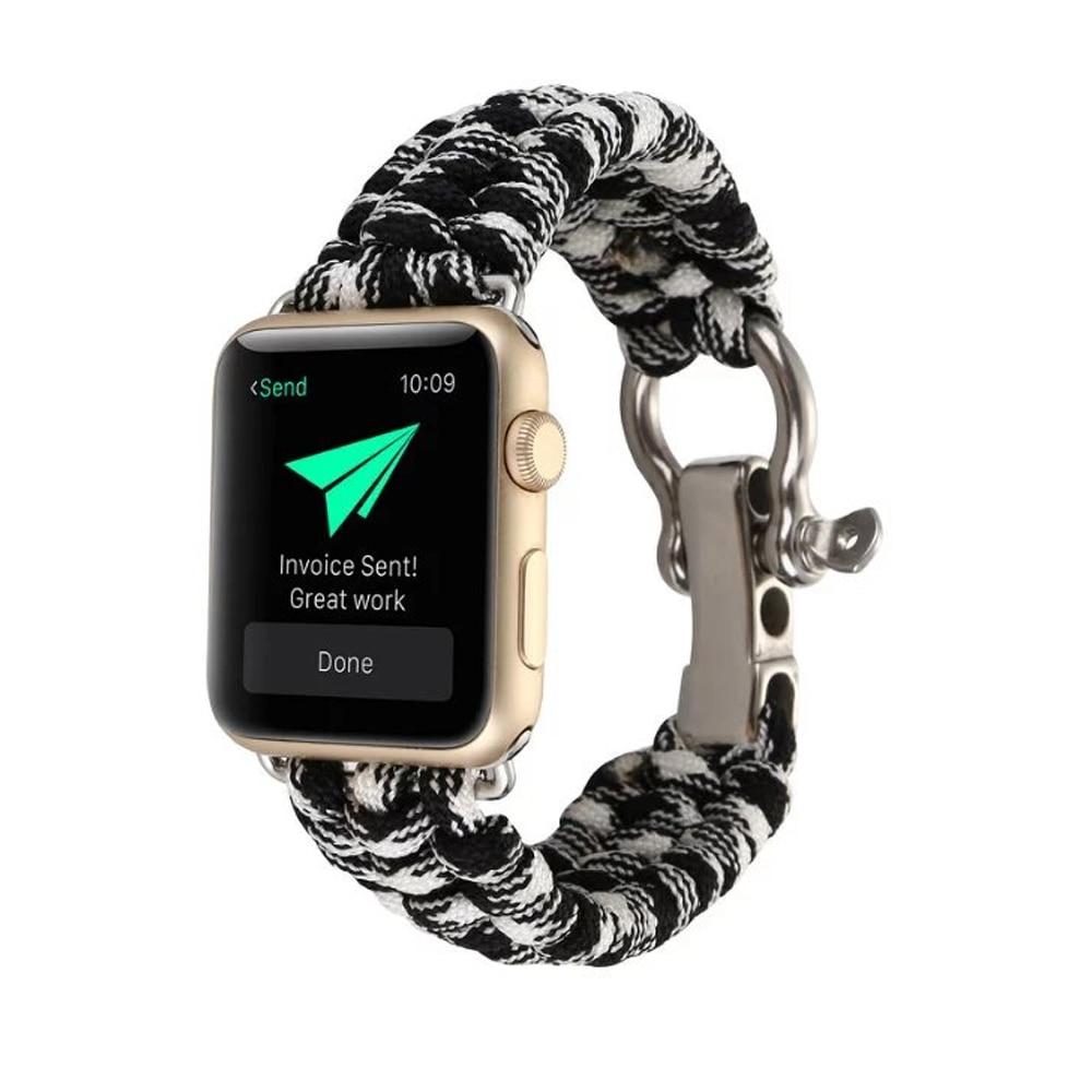 CRESTED ombrello corda cinturino di vigilanza della fascia per apple watch 3/2/1 iwatch 42mm 38mm braccialetto per il vecchio i clienti