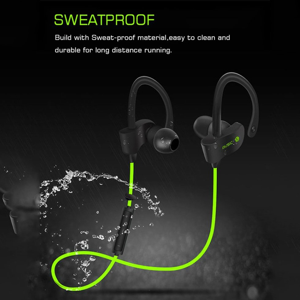 10PCS Wireless Bluetooth Headphones Sports Headset Sweat-proof Stereo In-Ear Earphone with Mic For Xiaomi Samsung 10pcs foldable stereo bluetooth headset wireless bluetooth headphones with mic earphone for iphone cellphone samsung xiaomi
