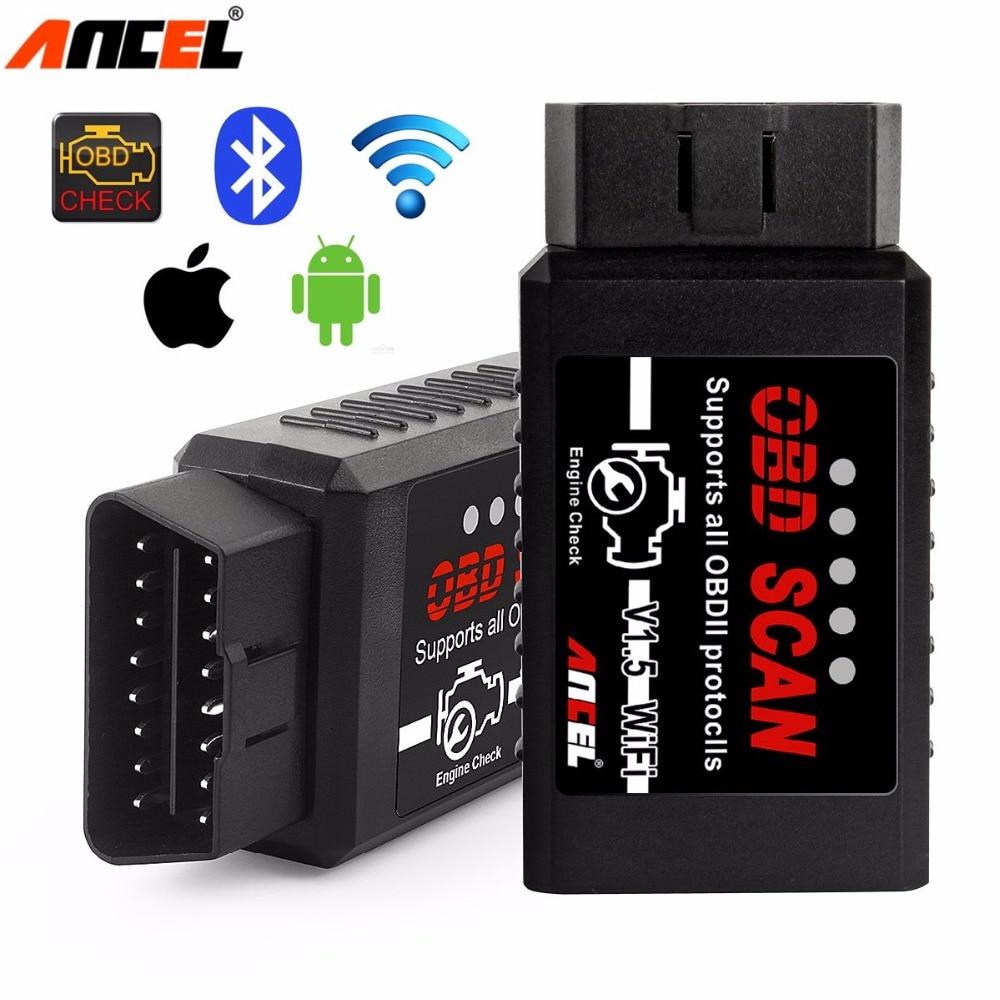 Ancel ELM327 Wifi V1.5 Automotive Scanner OBD2 EOBD Car Diagnostic Tool ELM 327 Wifi OBD 2 Scanner Auto Scanner for IOS Android