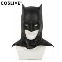 Coslive Justice League Batman Black Latex Half Face Mask Superhero Cosplay Carnival Prop Masquerade Party Costume Accessories