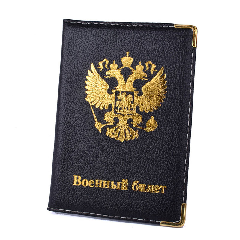 PU Soft Leather Russia Passport Holder Cover Russian Men Wallet Women Travel Case Passport Case