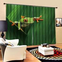 green frog High quality custom 3d curtain fabric for children room Decoration curtains