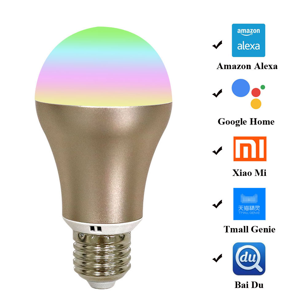 Auraglow 7w Remote Control Colour Changing Led Light Bulb: New Smart Bulb 7W B22/E27 RGB Color Changing LED WiFi