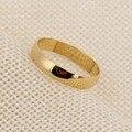 Bangrui Moda 24 k Plain 3mm Anel Anel Banhado A Ouro Em Forma de Anel Jóias Da Moda Italiana