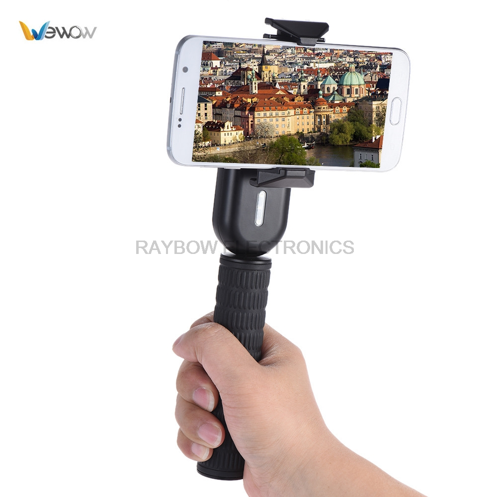 Wewow Fancy 1 Axis Gimbal handheld stabilizer for phone video for iPhone Samsung Huawei Xiaomi for Live Show Selfie Video yuneec q500 typhoon quadcopter handheld cgo steadygrip gimbal black