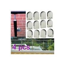 Малый размер поручни из нержавеющей стали балюстрады стеклянные зажимные зажимы кронштейн для 6-12 мм стекло коррозионностойкая простая работа