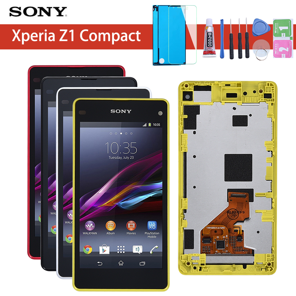 Touch Screen For <font><b>Sony</b></font> Xperia Z1 Mini Compact D5503 M51w LCD Display Digitizer Sensor Glass Panel Assembly With Frame image