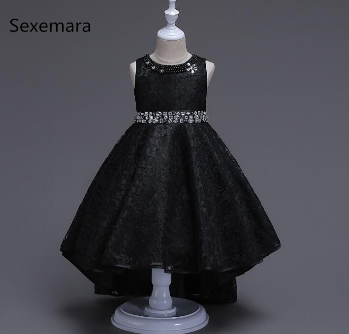 4-14 Years Girls Sleeveless Autumn & Winter Dresses New Girls Party Dress Toddler Girls Princess Dresses Kids Dresses For Girls 2016 spring winter children baby kids girls stripe princess lace mesh dress girls fall sleeveless dresses kids dresses for girls