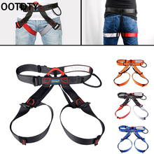 OOTDTY Harness Seat Belts Outdoor Sitting Safety Belts Rock Climbing Rappelling Tool