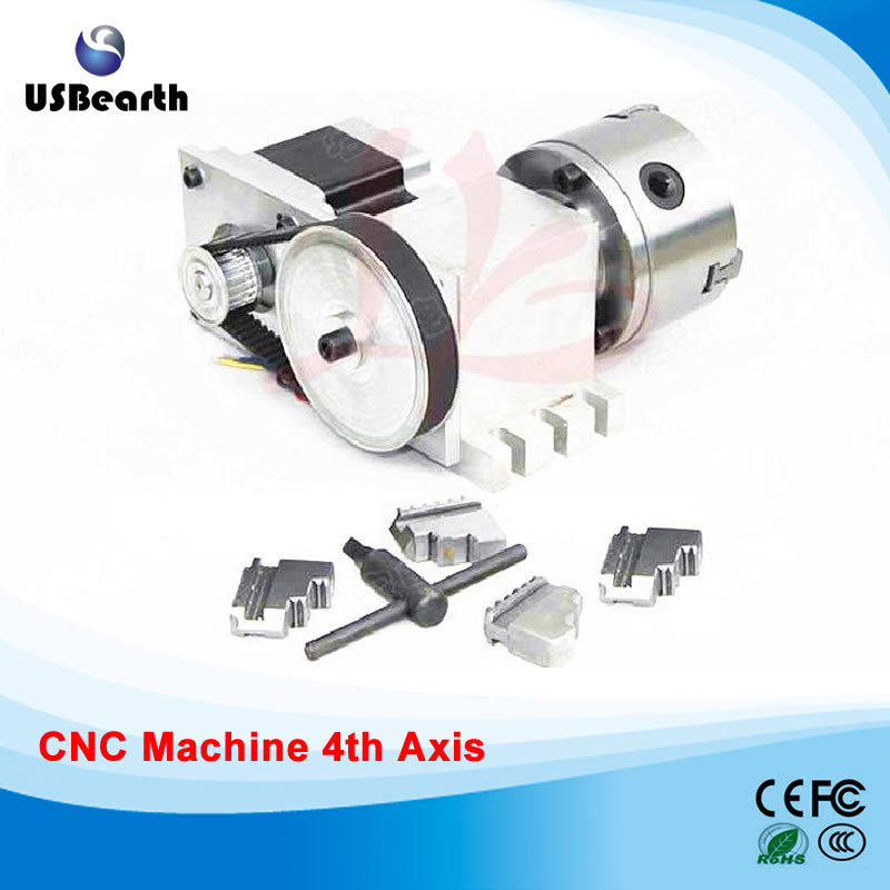 No tax to Russia 4 Jaw 100mm chuck CNC 4th Axis CNC dividing head 5M-3-100B cnc parts no tax to russis a aixs rotary axis three jaw chuck type for 5 aixs cnc milling machine