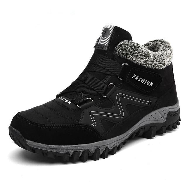 男性冬のブーツとファー 2018 ウォーム雪のブーツカジュアル男性靴メンズ冬のブーツ男性の靴のファッションゴム足首靴作業